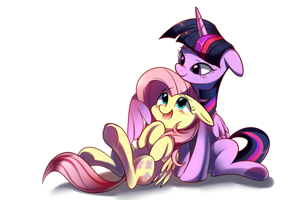 Fluttershy and Twilight Sparkle by sion-ara