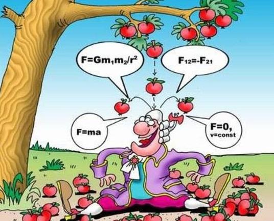 Картинки по запросу яблоко упало на голову ньютону