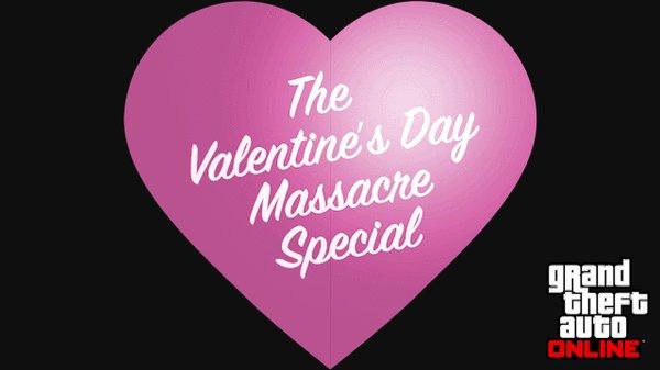 "GTA Online Valentine's Day Massacre Подарок от Rockstar на всеми ""любимый"" Денек Св. Валентина."