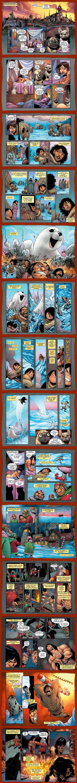 """Комикс """"Battlepug"""" 1 часть 1 главы (пилот) Пока рисуется Нимона, перевел комикс Battlepug (перевел как боемопс, что есть, то есть). Преисполнен абсурда и пафоса."""