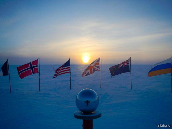 """""""Закат на Южном полюсе. Я люблю свою работу"""" (Фото, сделанное участником полярной экспедиции)"""