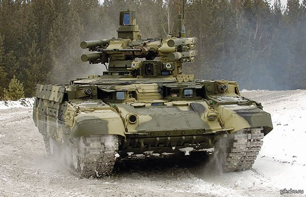 """Пожалуй и я поддержу милитари тему:) Боевая машина огневой поддержки """"Терминатор"""", она же объект 199 """"Рамка"""", создана на базе Т-90.  Упоминалась в одной из книг по Метро 203"""