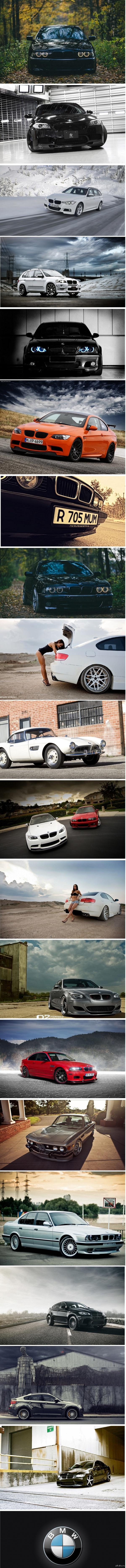 The Ultimate Driving Machine ( С удовольствием за рулем ) Склеил по просьбе @Demon7410  В комментах ссылка на архив с использовавшимися картинками.  Предлагайте еще темы  :)