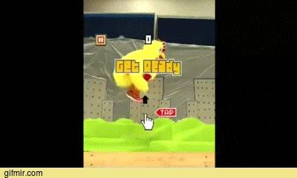 Flappy Bird! Полное видео в комментах.