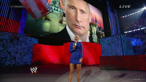 На американском шоу  WWE рестлерша призналась в том, что Путин для нее - пример для подражания