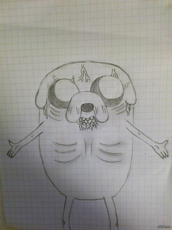 Порадую людей на ночь гляди крипи-джейком :) Сижу я сейчас и думаю, а ведь я ещё не рисовал Джейка, надо бы попробовать) ну и я люблю всякие рисунки в хоррор стиле, вот и получилось нечто такое :)