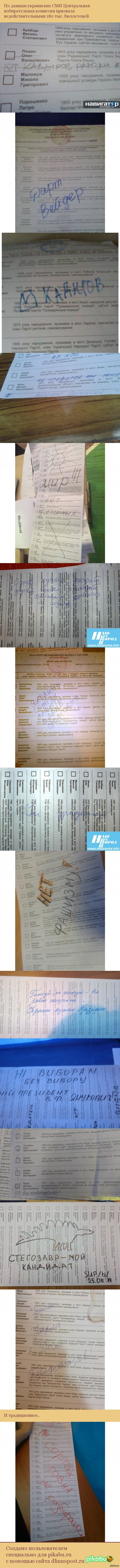 Порча бюллетеней на выборах в Украине Центральная избирательная комиссия сообщает, что 1,38 процента или 178 тис. 935 бюллетеней - недействительны