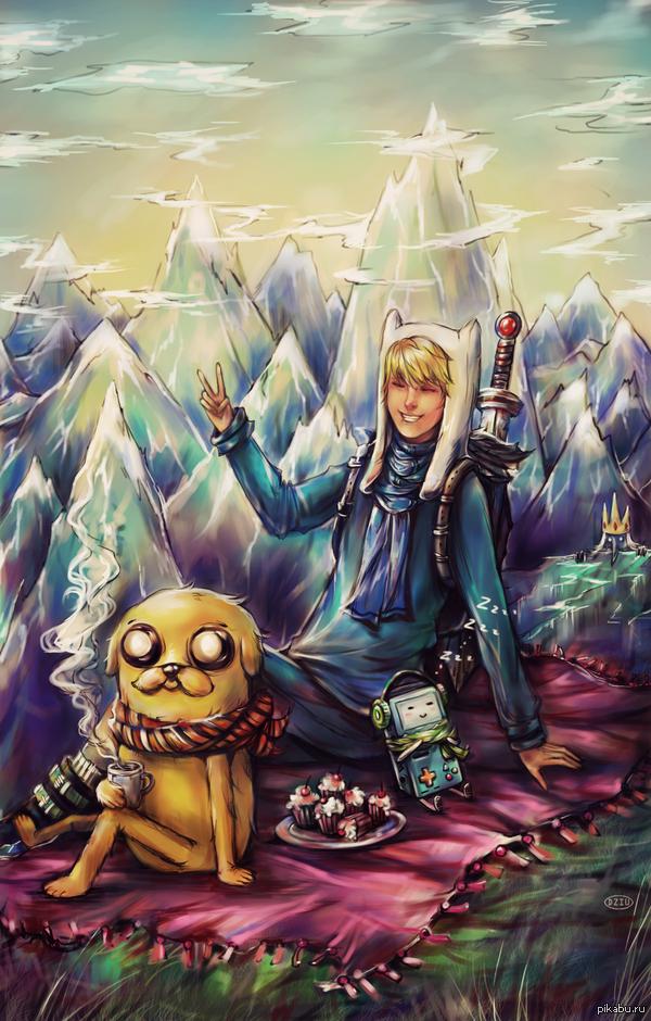 Adventure time - клаcсный арт
