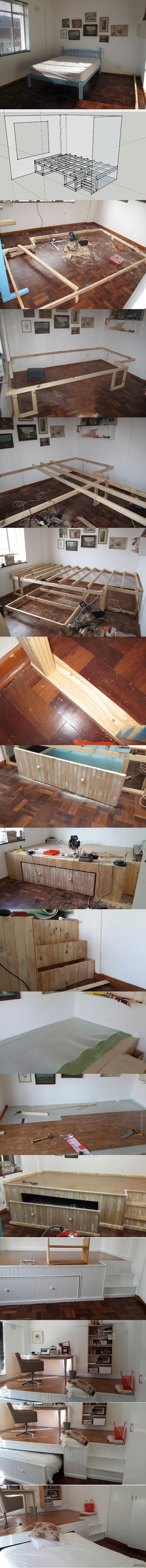 Как немного увеличить полезное пространство своей комнаты