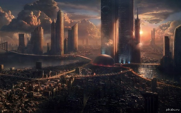 Город будущего Вы только представьте, а вдруг и у нас такое будет. Это же просто божественно :)