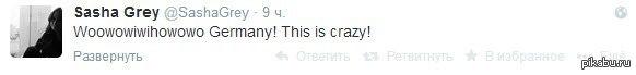 Саша Грей одобряет такой немецкий футбол