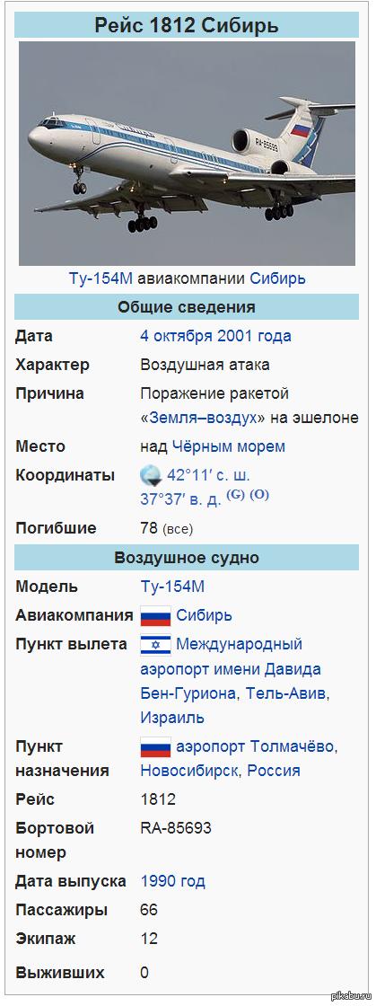 Не впервые над Украиной сбиваю пассажирский самолет. Подобный случай уже был в 2001 году. Подробности в комментариях.
