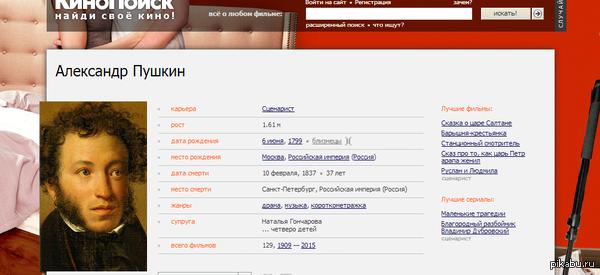 Наткнулся на профиль одного сценариста на кинопоиске. http://www.kinopoisk.ru/name/22669/
