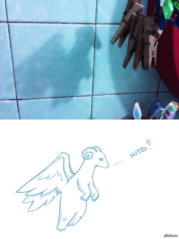 Не каждый день встречаешь в ванной дракона