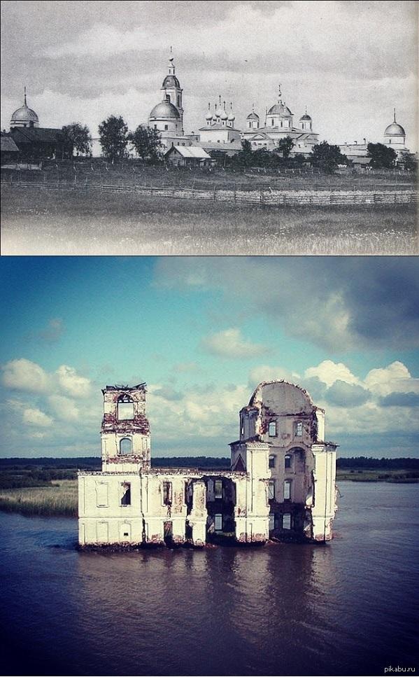 Молога фото до и после затопления