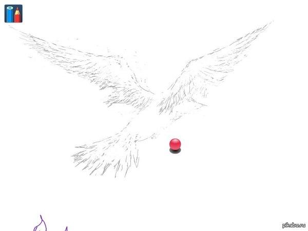 Попытка изображения птицы подлетающей к цветку,вероятен был так же задний фон ... ..настояла жена чтобы запостил..за что ей и :-*  Рисунок этот недоделка,флеш плеер у браузера подвёл,куки стёрты,в следствии чего - дорисовать не могу :(