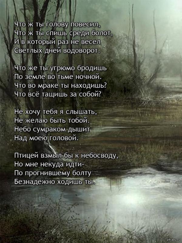 Болото Пятничный тег моё, и минутка поэзии на пикабу
