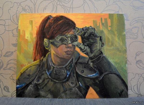 Сара Керриган - Starcraft 35x45, рисовала акрилом