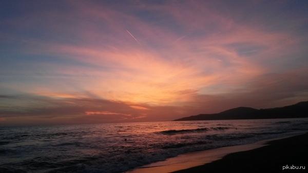 Просто красивый закат Italia, Marina di Ascea