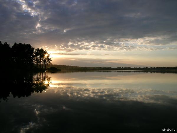 очередной закат Озеро Круглое, МО. давно дело было