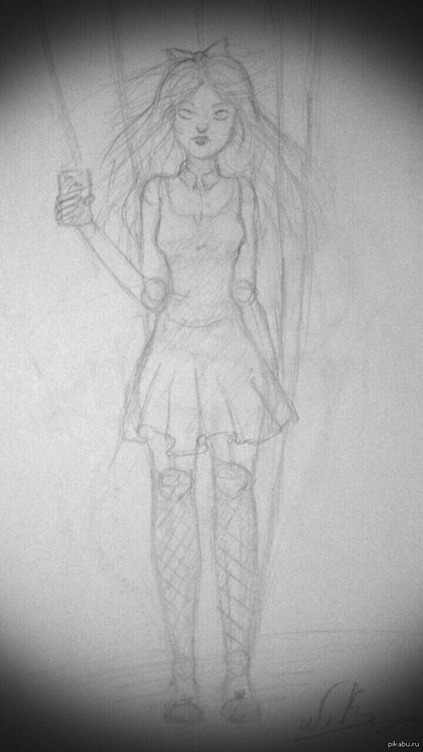 """Кукла. Вот такую """"куклу"""" я нарисовала для своих 2-х подписчиков"""