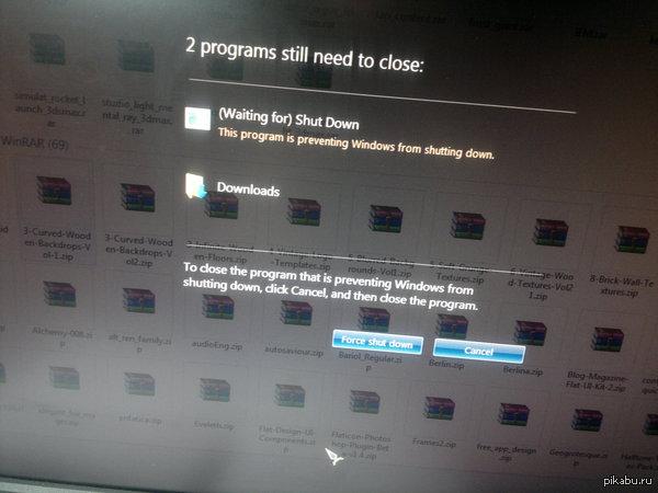 DAT WINDOWS Мой компьютер не может выключиться, потому что ожидает выключения . Ничего особенного