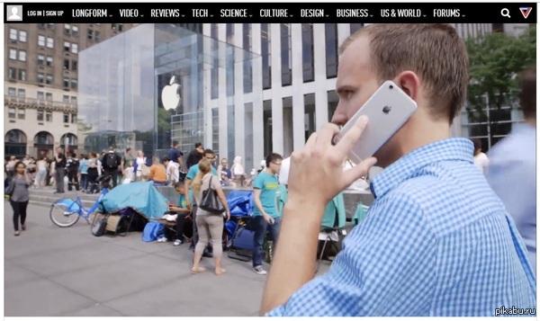 Троллинг от журналистов The Verge П.с. очереди за новыми iPhone началась ещё 3 сентября.