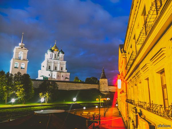 Фотография ночного Пскова. Неделя Пскова.