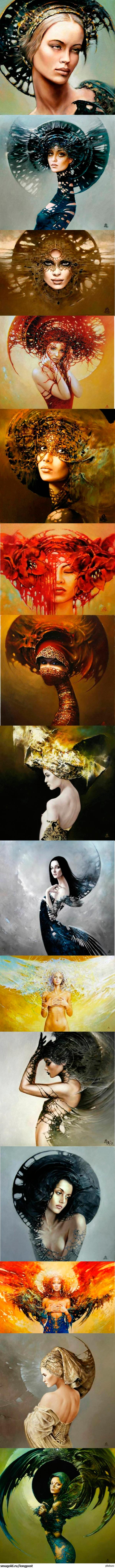 Вот вам пикабушники, немного польских женщин от Кароль Бака :) Клубнику не ставлю, тут по моему мнению чистое искусство.