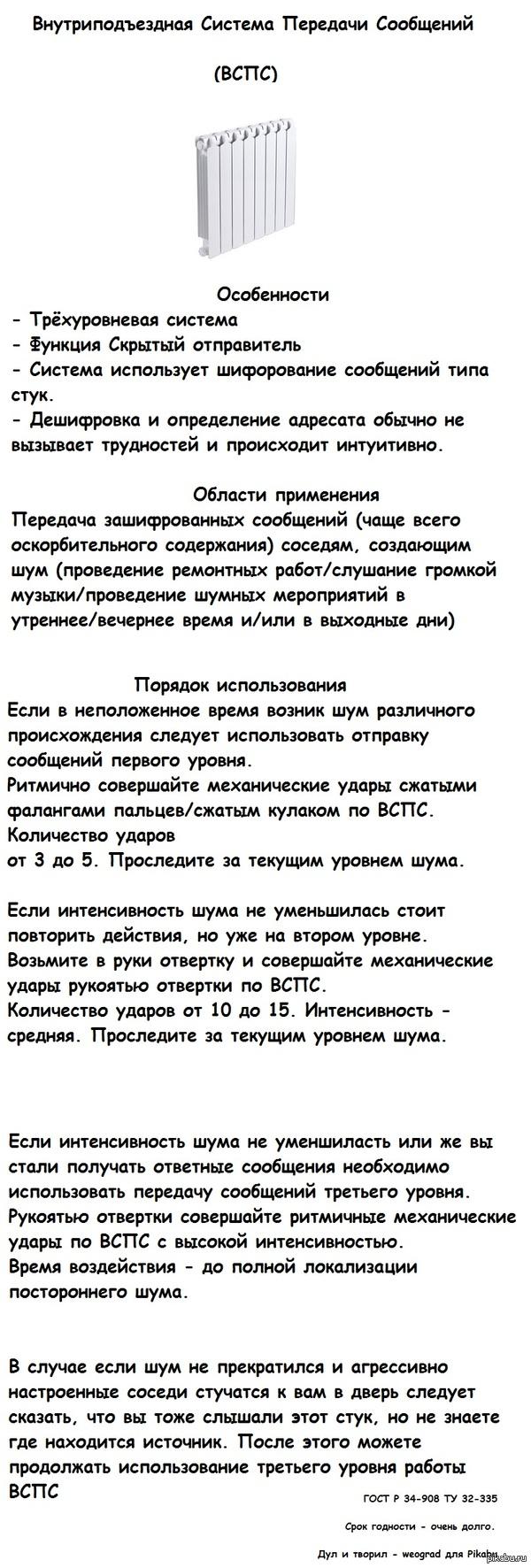 ВСПС Инструкция