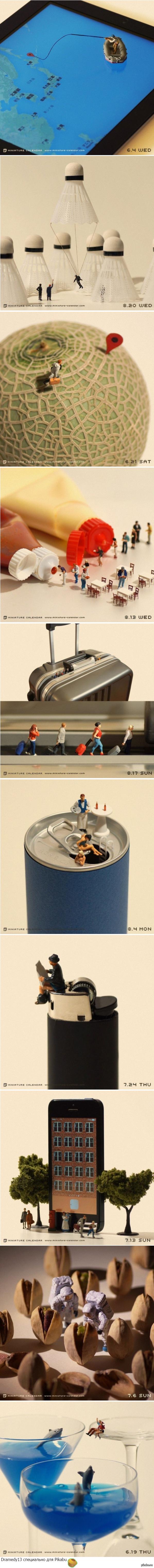 Интересное Метафоричные миниатюрные сцены о современной жизни от японского фотографа Танака Тацуя.