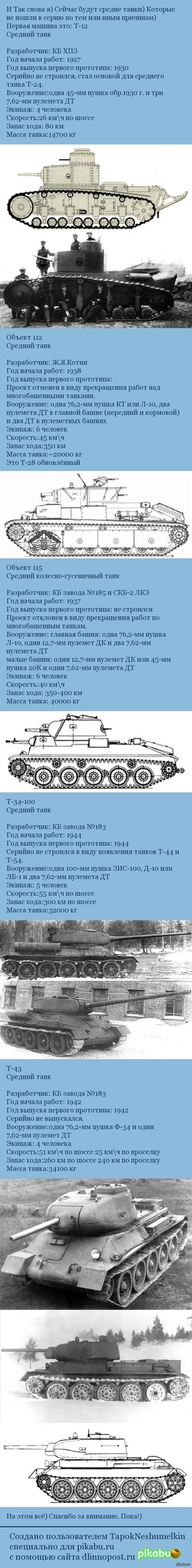 Средние танки СССР не пошедшие в серию