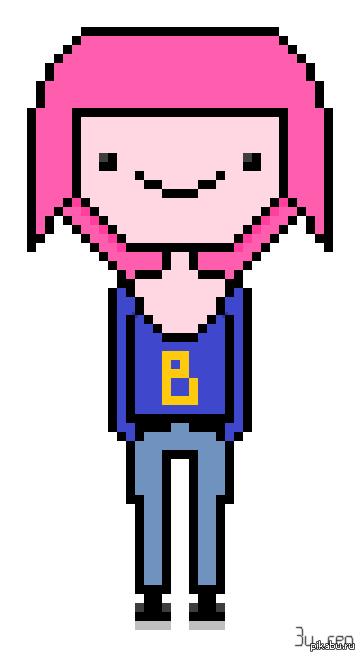 Мой первый Pixel Art Adventure Time • - •  Bubblegum ♥