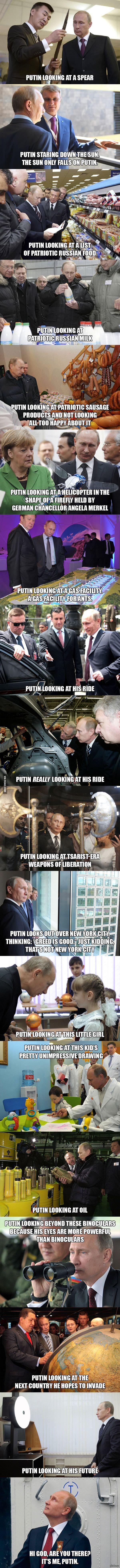 Putin Looking at Things