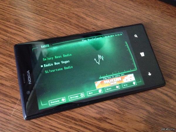 Любители Fallout должны оценить. Windows Phone тоже есть чем похвастаться. Похожих на iOS и Android не нашлось... Онлайн радио кстати. Осталось только чехол на руку купить и отлично :)