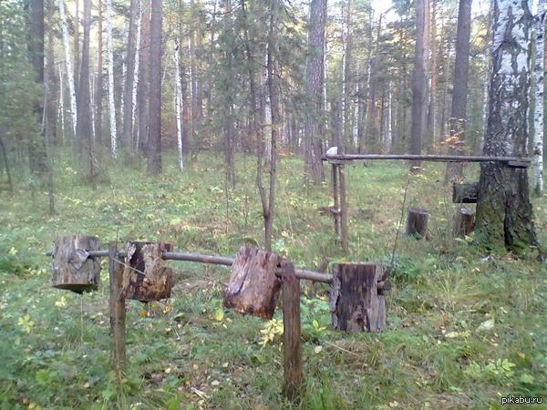 Качалка Поехали в лес по грибы, а там...