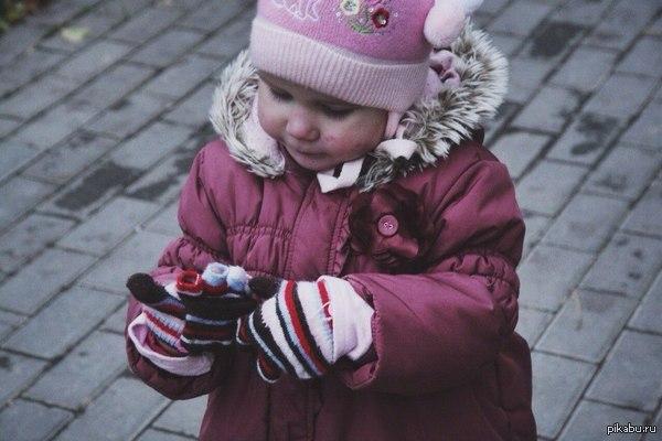 Мое маленькое теплое фото) Снимать ребеночка на улице - огромный труд))