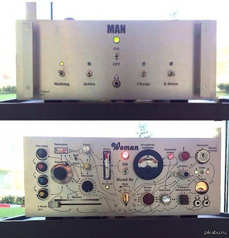 Различия между мужчиной и женщиной спёрто с 9gag.com)  п.с мужчина сверху