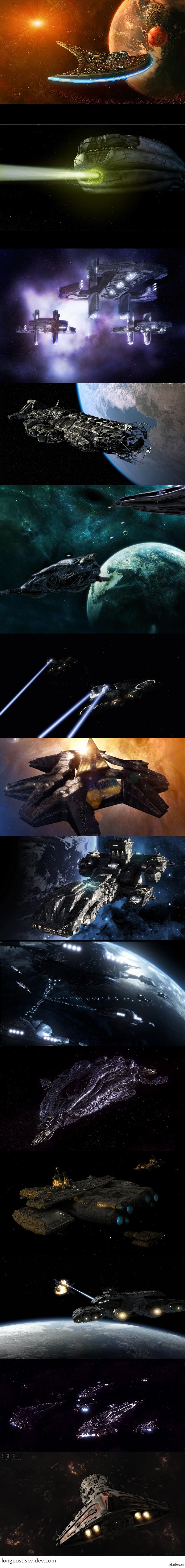 Для фанатов ЗВ :) Решил сделать свой первый длиннопост небольшой подборкой космических кораблей из вселенной звездных врат ;)