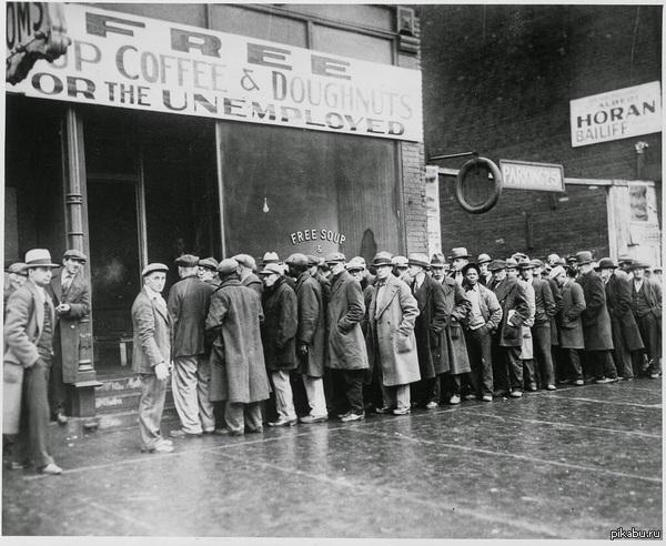 Бесплатное питание, открытое мафиози Аль Капоне в период Великой депрессии, США, 1931 г.