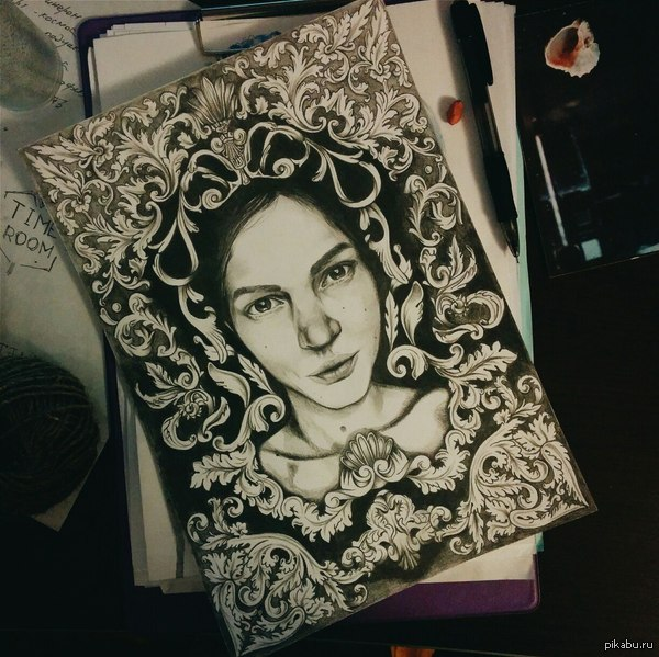 """В традициях пятничного """"моё"""" хочу поделиться с вами любимым занятием моей девушки Рисунок карандашом, формат А4  Фото процесса в комментариях) Всем добра!)"""