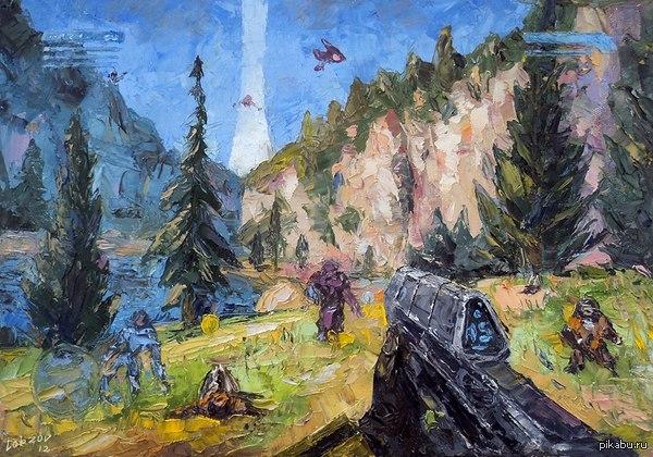 Halo. Красивая работа по мотивам игры Halo.