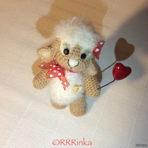 НеПятничное моЁ Овечка тоже символ 2015 года) handmade...