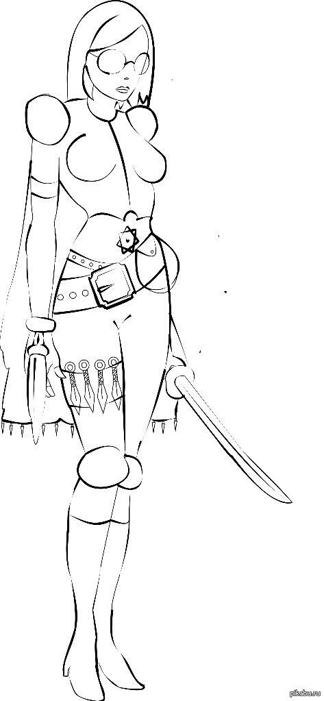 Мой первый пост и первый опыт в Corel Draw. Я не художник, так, балуюсь. Набросал эскиз на бумаге, отскочил и проработал контуры в Кореле. Планирую раскрасить в фотошопе. Критика принимается.