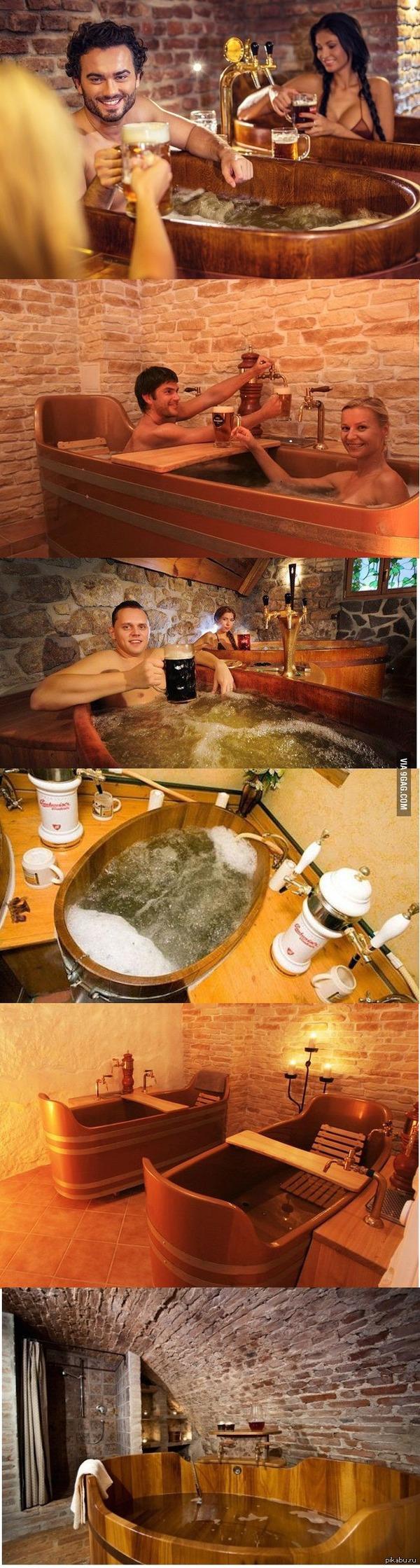 Пивная баня в Чехии. Смотрю на фото и чувствую запах пива