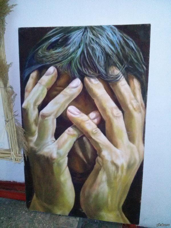 """Картина с выставки Название что-то типа """"Психоз"""" или даже не знаю как называется."""