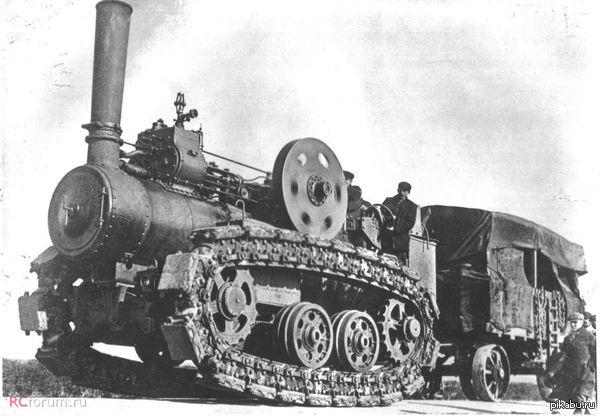 Стимпанк в реальной жизни. Сухопутный паровоз. был создан в Англии фирмой R. Hornsby & Sons, 1910 году в единственном экземпляре. Предназначен для перетаскивания угля на Аляске.