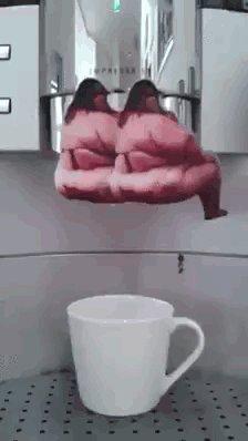 Хорошо выпить с утра чашечку кофе ...