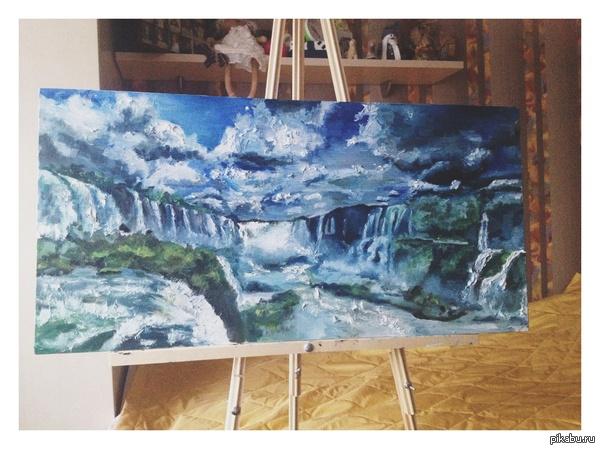 Waterfalls Может кто оценит скромного художника