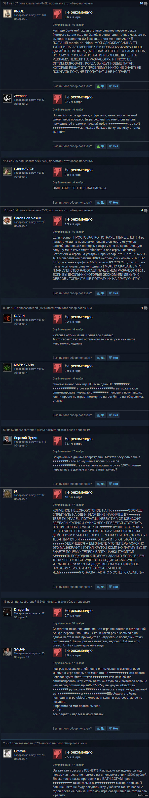 "За что так любят Assassin's Creed® Unity Задался вопросом почему игра стоит 6099р (<a href=""http://pikabu.ru/story/pokhozhe_nas_gdeto__2821087)."">http://pikabu.ru/story/_2821087</a> Цена явно завышена"